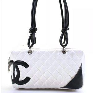 Chanel Ligne Cambon Leather Bowler Shoulder Bag